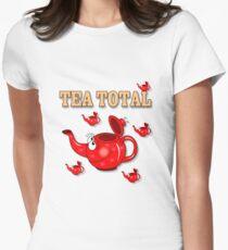Tea Total Cartoon Women's Fitted T-Shirt