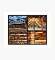 """Barn Materials-Keeping It Simple"" Art Print"