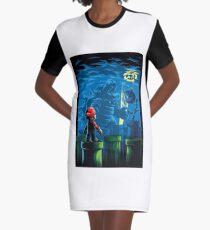 Dynamic Super Mario Graphic T-Shirt Dress