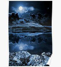 Night sky over dovestones Poster
