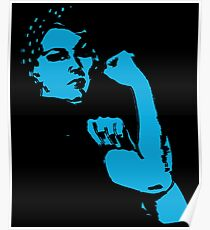 Rosie the Riveter Silhouette Poster