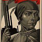 """""""Emancipated Woman – Build Socialism!"""", USSR Propaganda 1926, Adolf Strakhov by dru1138"""