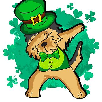 Dabbing Irish Terrier Dog St. Patrick's by frittata