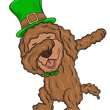 Dabbing Irish Water Spaniel Dog St. Patrick's by frittata