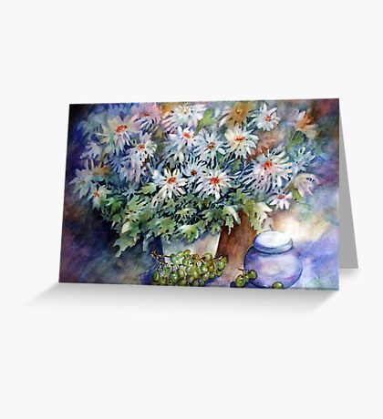 Mums with Green Grapes Greeting Card