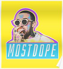 Mac Miller Most Dope 80s Retro  Poster