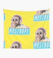 Mac Miller Most Dope 80s Retro  Wall Tapestry
