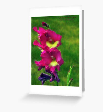 Pink Glads Greeting Card