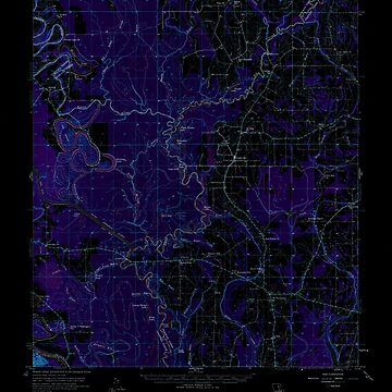USGS TOPO Map Louisiana LA Fort Necessity 334564 1958 62500 Inverted by wetdryvac