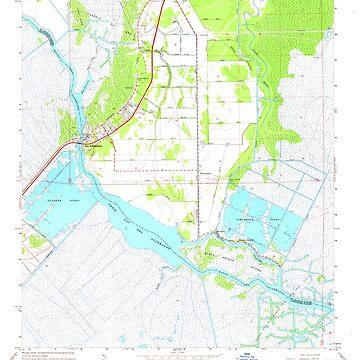 USGS TOPO Map Louisiana LA Des Allemands 331835 1967 24000 by wetdryvac