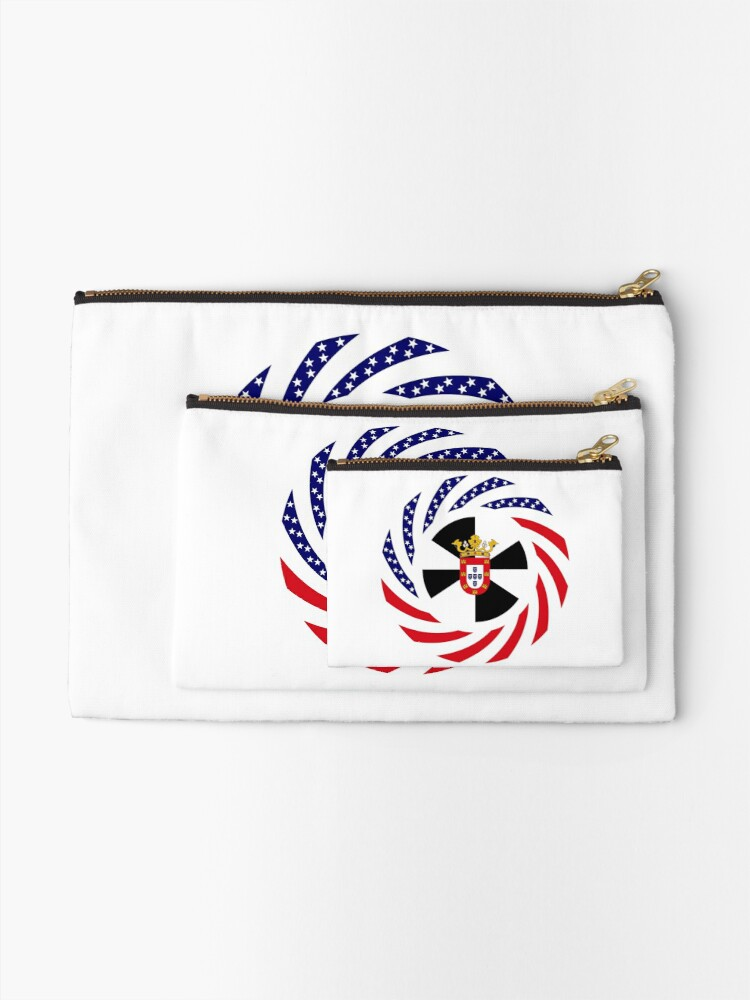 Alternate view of Ceutan American Multinational Patriot Flag Series Zipper Pouch