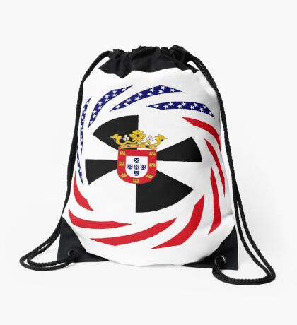 Ceutan American Multinational Patriot Flag Series Drawstring Bag