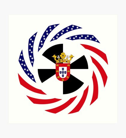 Ceutan American Multinational Patriot Flag Series Art Print