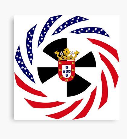 Ceutan American Multinational Patriot Flag Series Canvas Print