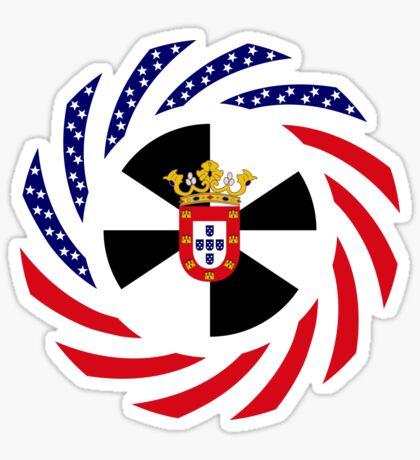 Ceutan American Multinational Patriot Flag Series Glossy Sticker