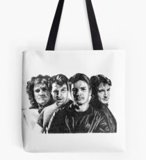 The Many Faces of Nathan Fillion Tote Bag