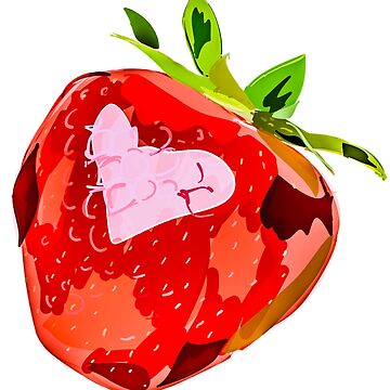 Strawberry Heart Digital Painting by FrenchToasty