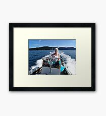 Woman Driver Framed Print