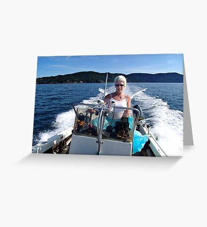 Woman Driver Greeting Card