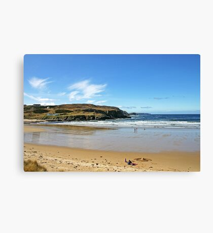 A Chilly Picnic - Farr Bay, Sutherland Canvas Print