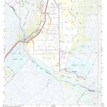 USGS TOPO Map Louisiana LA Des Allemands 331838 1967 24000 by wetdryvac