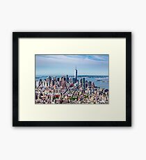 Looking Out over Manhattan Island from the Empire State Building Framed Print
