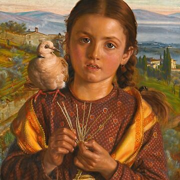 "William Holman Hunt ""Tuscan Girl Plaiting Straw"" by ALD1"