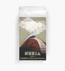 Nuria, Spain Vintage Travel Poster Restored Duvet Cover