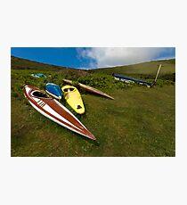 Abandoned canoes Photographic Print