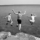 Three jump  by Peter Voerman