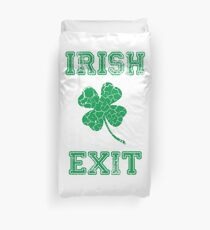 Irish Exit Green Clover Design Duvet Cover