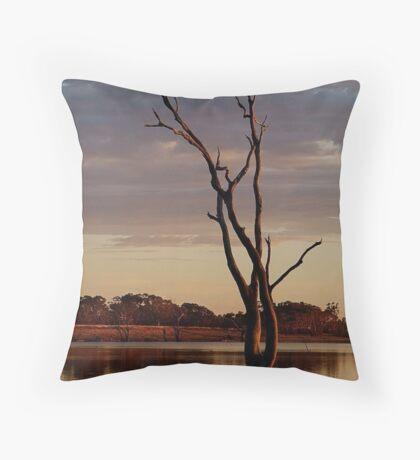 First Light,Lake Fyans Grampians Throw Pillow