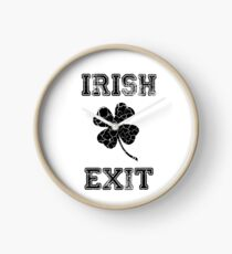 Irish Exit Black Clover Design Clock