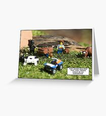 Cow Tipping Greeting Card