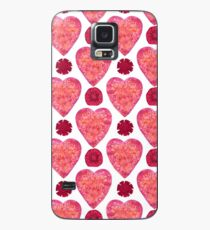 Hearts and Flowers for Valentine's Day Case/Skin for Samsung Galaxy