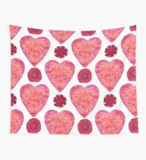 Hearts and Flowers for Valentine's Day Wall Tapestry