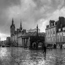 Aberdeen in the rain - B&W by Tom Gomez