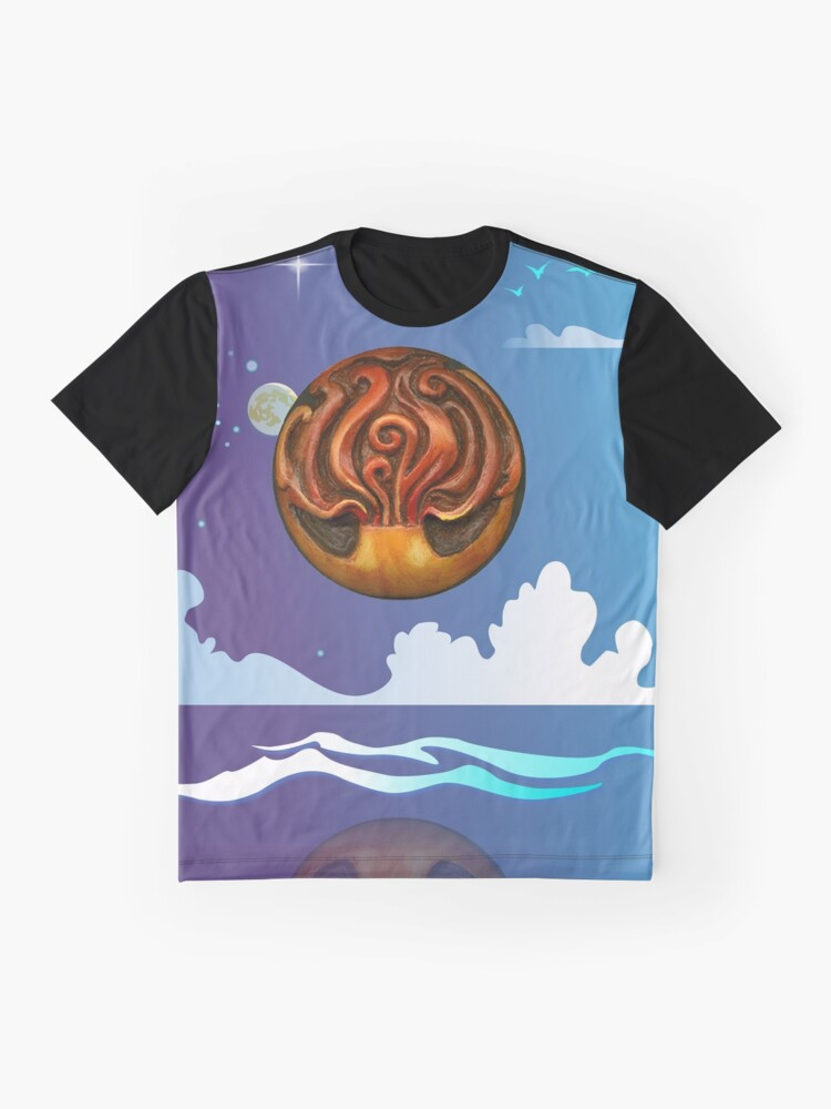 Alternate view of Fire And Water Graphic T-Shirt