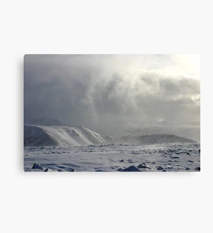 Showers Departing, Arkle, Sutherland Canvas Print