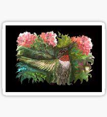 Batzilla - Batty about Hummingbirds by Tz StLouis  Sticker