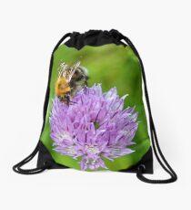 Bee & Chives Drawstring Bag