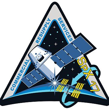 NASA insignia for CRS-17 (SpX 17)  by Spacestuffplus