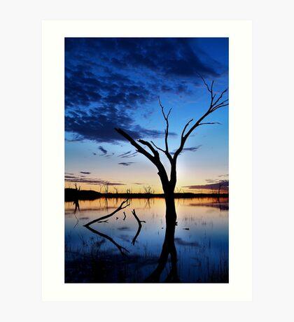 Lake Fyans, Blue Lagoon Art Print