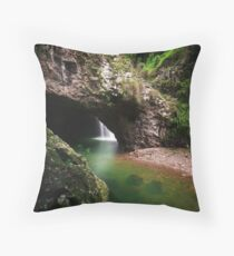Natural Arch, Border Ranges, Qld Throw Pillow