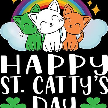 St Patricks Day Cat Lover Kitten Funny Apparel by CustUmmMerch