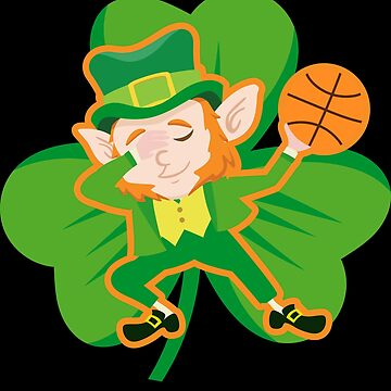 Dabbing Leprechaun Basketball Funny St Patricks Day Apparel by CustUmmMerch