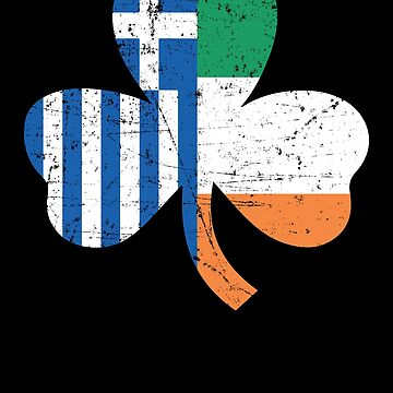 Greek Irish St Patricks Day Greece Flag Apparel by CustUmmMerch
