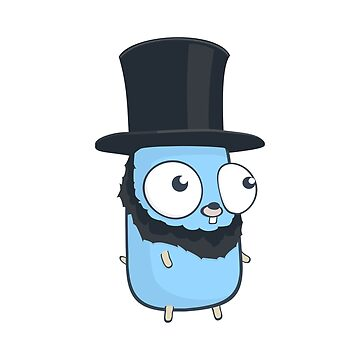The Golang Mascot: Stovepipe Hat by hellkni9ht