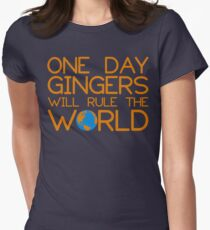 Funny Ginger Hair T Shirt - One Day Gingers Will Rule The World Women's Fitted T-Shirt
