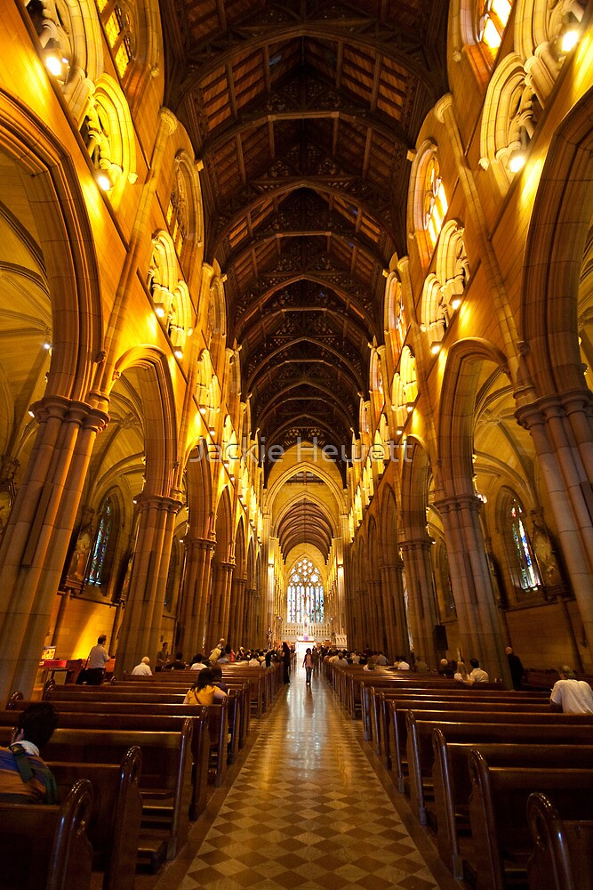 Inside St. Mary's Cathedral, Sydney by Jackie Hewett